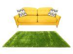 Puffy Shaggy 004 Green 60 x 110 cm