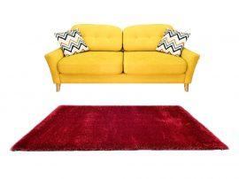 Puffy Shaggy 004 Red 60*220 cm