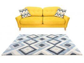 Louise 2404 Blue-Grey (Kék-Szürke) 60*110 cm
