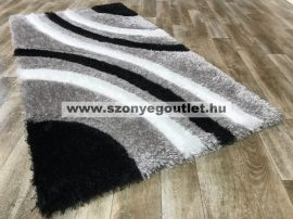 California Shaggy 305 Black (Szürke-Fekete) 80 x 150 cm