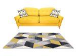 Louise 8797 Yellow Grey (Sárga-Szürke) 80*150 cm